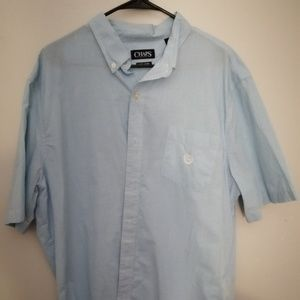 XXL Chaps Baby Blue Checkered Button Up
